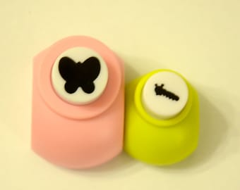 A Set of 2 Paper Punches- Butterfly and Caterpillar