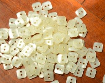 Lot of 40 pcs vintage Square mini Buttons