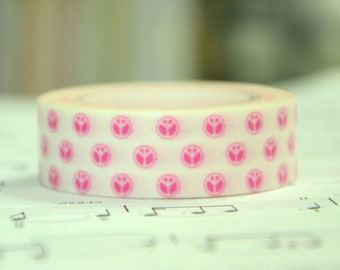1 Roll of Japanese Washi Tape Roll-   Peace Sign