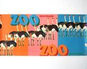 Original Zoo Advertising Poster  - Ostrich - Bratislava