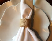 Burlap Shabby Chic Wedding Napkin Rings