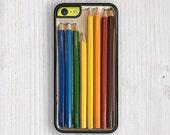 Colorful Pencil Set iPhone Case, iPhone 5c case, iPhone 5s Cases, iPhone 6 Plus case, iPhone 6 Case, iPhone 4s cover