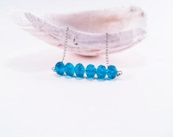Cobalt Blue Crystal Beaded Necklace