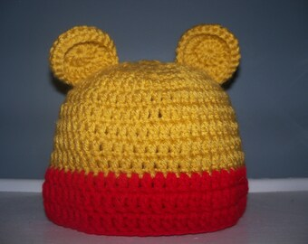 Teddy Bear Costume Hat, Halloween Costume Beanie for Infant, Child, Teen, or Adult, Newborn Photo Prop, Baby Gift, Made to Order