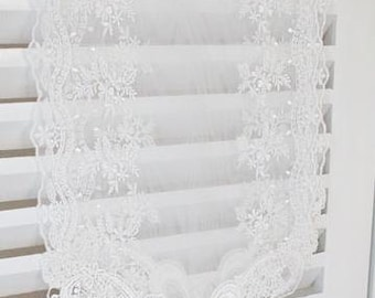 Free Shipping Handmade Wedding Tableware Table Doily Runner,Embroidery&Lace 24x260cm