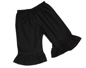 Solid Black Ruffle Pants Baby, toddler, and girls ruffle pants sz 12m, 18m, 24m/ 2, 3,4,5,6,7,8, 10, 12