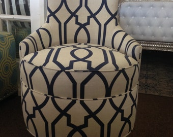 Custom Swivel Modern Chair