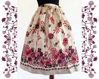 1950's Vintage Deadstock Full Linen Skirt