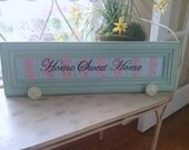 Home Sweet Home Cottage  Chic Wall Hanger with Antique Hardware