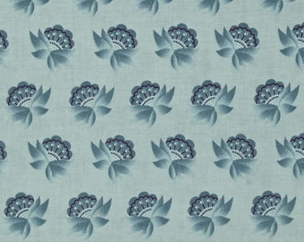 ON SALE! Twig and Grace by Sue Daley Designs for Riley Blake Blue Flowers 1 Yard Cut