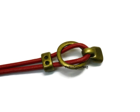 Open hook all in one clasp for use with leather cord up to 5mm zk518