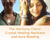 Harmony Necklace and Sacred Geometry  Aura Reading 40 Minutes - Discover the light around you - and Shift a Block - Feel Good - by Jelila