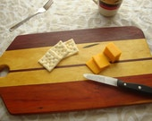 Purple Heart cutting board, also featuring Yellow Heart and Orange heart