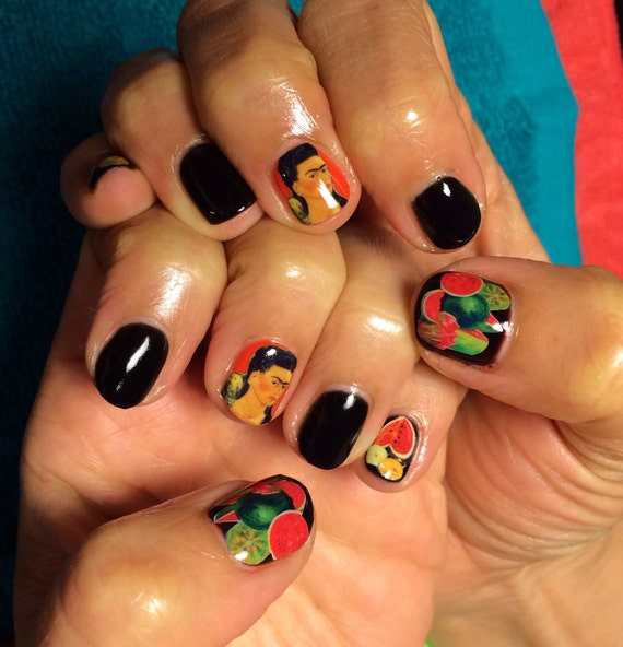 Nail Decals Frida Kahlo
