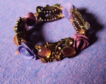 Crystal Rose Garden Stretch Bracelet