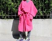 Pink OVERSIZED Coat, Maxi Coat, Maxi Manto, Plus size clothing, Fall Winter clothing