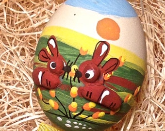 Hand Painted Easter Eggs - Cats, Sheep, Swan, Ladybug