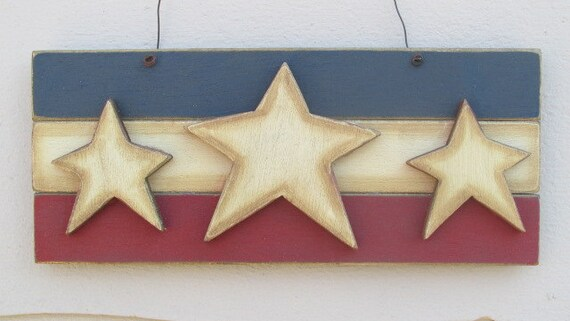 Stars and stripes wall decor primitive wall art patriotic Stars and stripes home decor