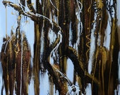 "Large Oil painting by hand made on canvas , 27.5""X 55""  Ready to Hang."