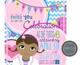 Custom Birthday Party INVITATION DESIGN - Doc McStuffin