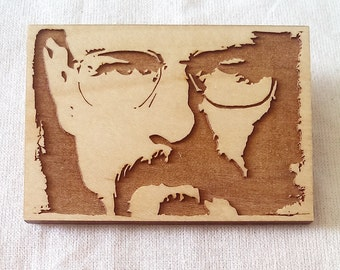 Bryan Cranston - Breaking Bad - Walter White - Engraved - Key Ring - Magnet - Brooch
