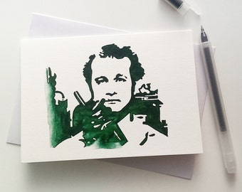 Bill Murray, Peter Venkman, ghostbusters Card