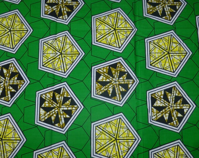 African Fabrics Super Wax Prints African Fabric For Dressmakings/Fabric for Sewing Dresses, Skirts,Kitenge/Pagnes Sold By Yard