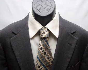 Vintage Mens Dark Grey Jacket Slim Fit 2 Button Retro Blazer Size 38
