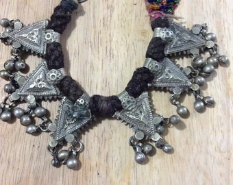 Bracelet With Triangle Motif and Bells