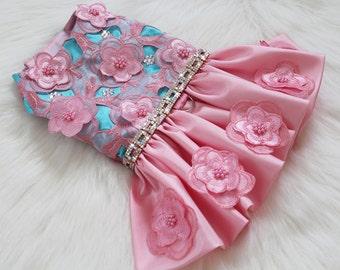 Spring Flowers Pink Bling Dress