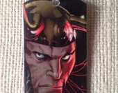 Loki (Marvel Thor and Avengers) Upcycled Comic Book Dog Tag, Includes necklace