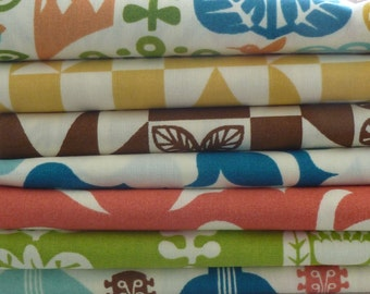 Birch Organic Fabrics Ipanema 7 Piece Fat Quarter Yard Bundle