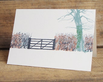 Winter Hedgerow Card