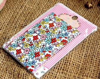 Cotton Fabric Sticker Set - Masking Sticker - Fabric - Filofax - Photo Sticker - DIY Sticker - Style B