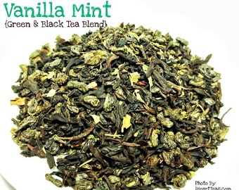 Vanilla Mint Green and Black Tea Blend