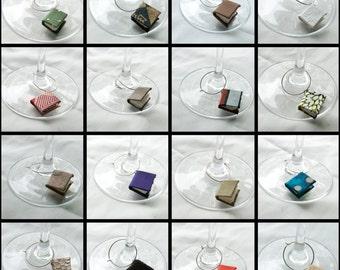 Miniature Book Wine Charm