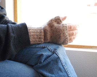 Oatmeal Fingerless Gloves Man or Woman
