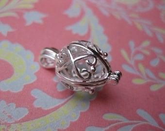 Silverplated Filigree Lockets earring locket supplies