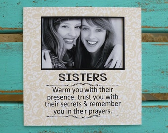 sister birthday gift sister gift sister photo frame lace word art
