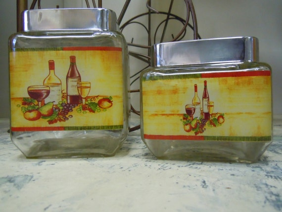 square kitchen canisters square glass vintage kitchen canister set metal lid storage 4035