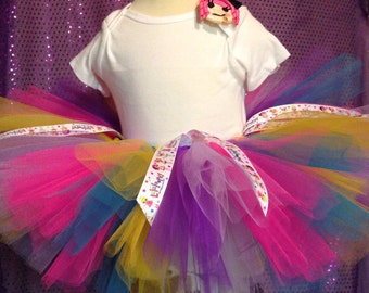 Lala loopsy tutu with match hair clip