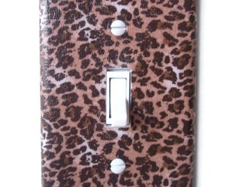 Leopard Print Single Toggle Switchplate, Switch Plate