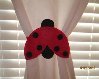 Ladybug Curtain Tie-backs (Set of 2)