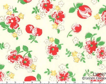Floral Cherries Color 30 from the Old New 30's Collection by Lecien