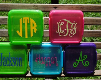 Personalized Sandwich Keeper  Lunch Box Back To School Monogrammed