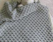 Merbaby Blanket - Baby Blanket Knitting Pattern PDF
