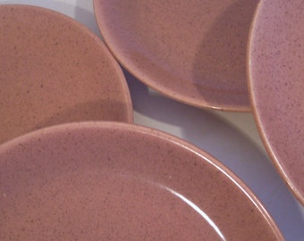 Laurel of California LIFE Stoneware - Speckled Pink Coral - Set of 4 Bread and Butter Salad Plates