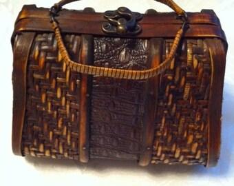 A Wood Handbag