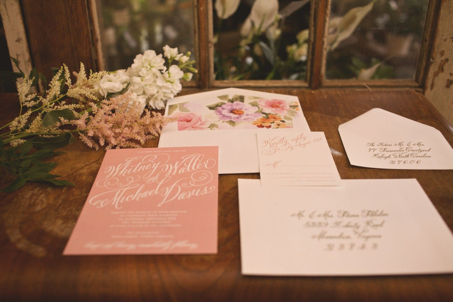 Garden Wedding Invitations: Garden Wedding Invitation Blush Wedding Invitation By