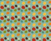 Giraffe Crossing Fabric  - Giraffe Dots Teal - Riley Bake Designs